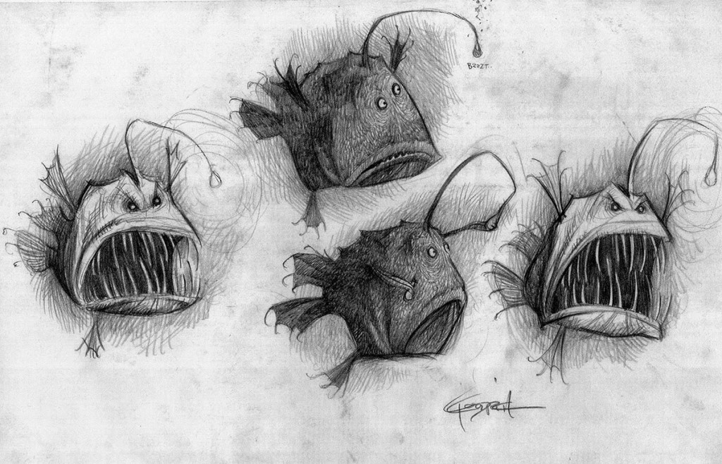 Diseño de personajes de Buscando a Nemo por Carter Coodrich