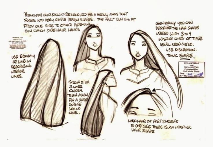 Concept Art de Pocahontas por Glen Keane