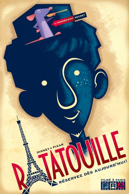 Cartel de Ratatouille por Eric Tan