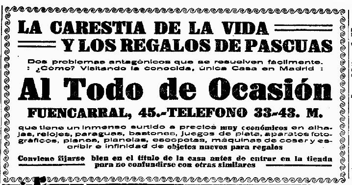 anuncios antiguos publicidad principios siglo xx prensa