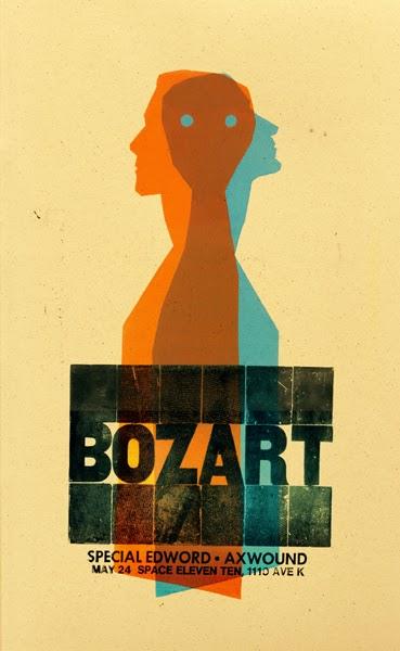 Gig poster diseñado por Dirk Fowler para Bozart