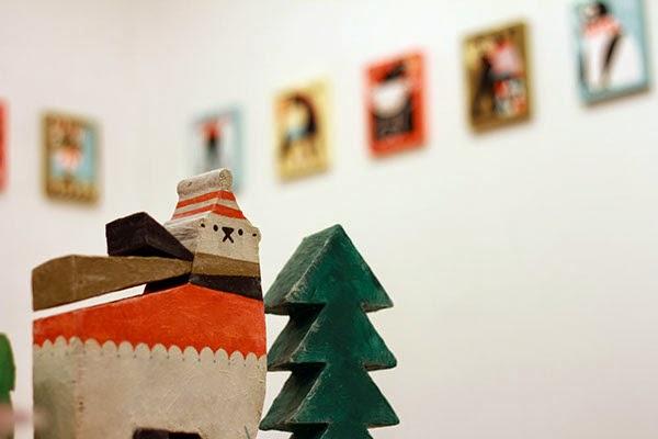 Figura oso polar en navidad de Shunsuke Satake