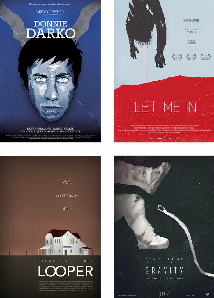 Alternative Movie Posters by Gauss Multimedia students