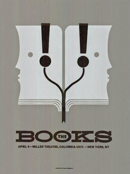 Gig poster diseñado por Dirk Fowler para The Books