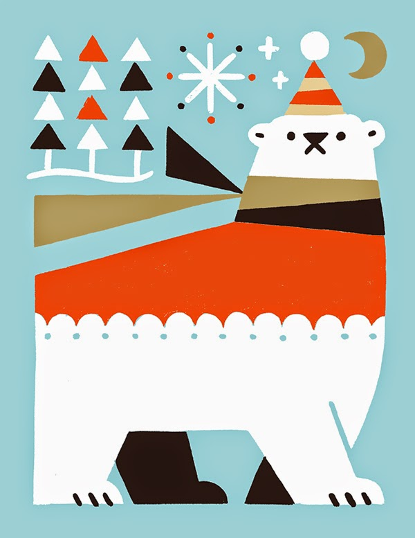 Oso polar ilustrado por Shunsuke Satake