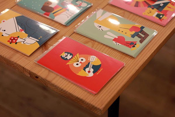 Postales y láminas de la exposición Animals de Shunsuke Satake