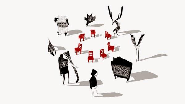 """Cortometraje de animación """"Musical Chairs"""" de Yukai Du."""