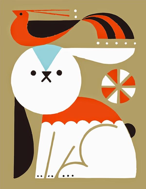 Ilustración de un conejo de Shunsuke Satake