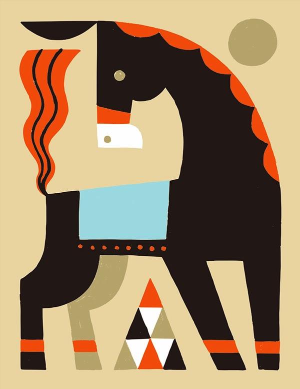 Caballo illustrado por Shunsuke Satake
