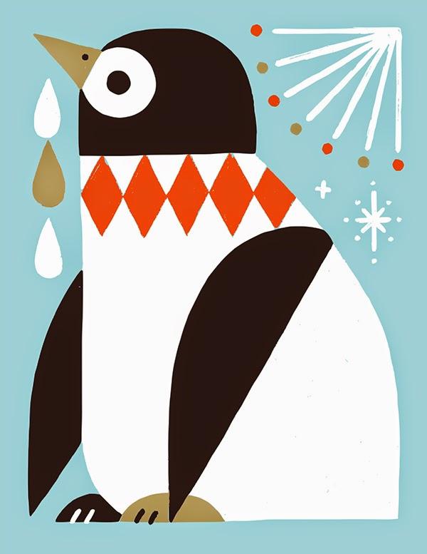 Pingüino ilustrado por Shunsuke Satake