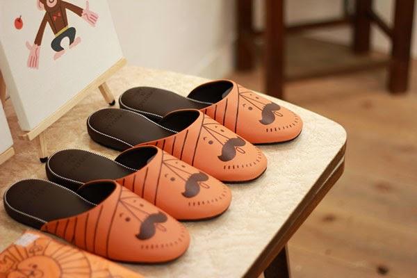 Zapatillas de la exposición de Shunsuke Satake