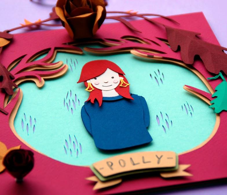 Autoretrato de Polly Lindsay en papel