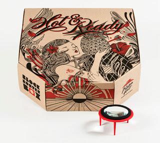 Caja de Pizza Hut ilustrada