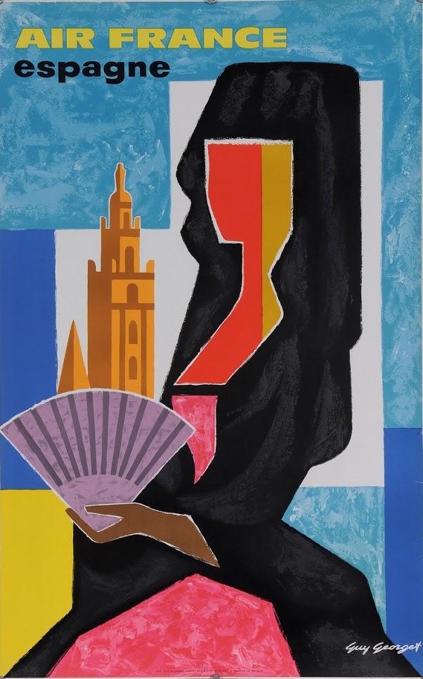 Mujer española con mantilla y abanico