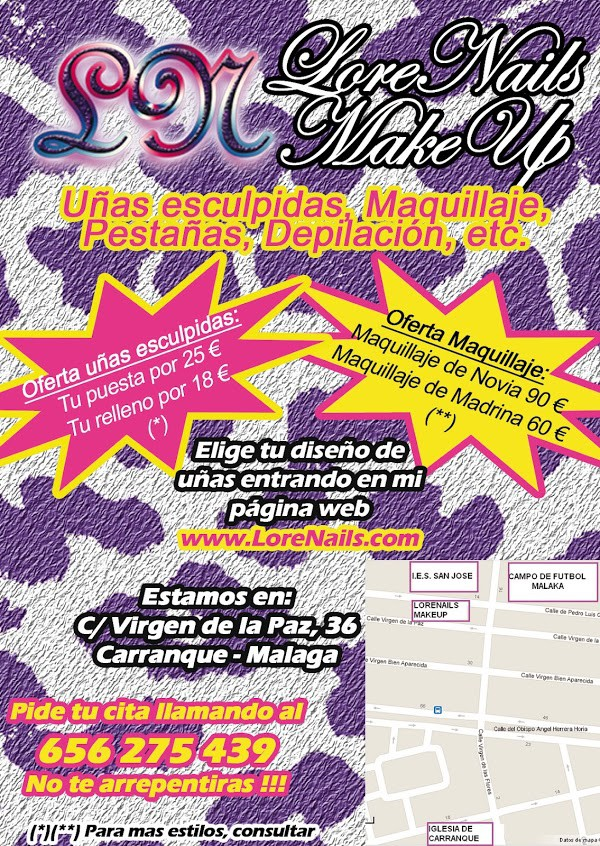 Flyer de decoración de uñas