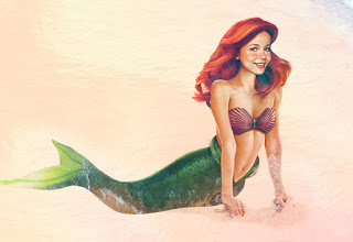 Ariel convertida en persona real